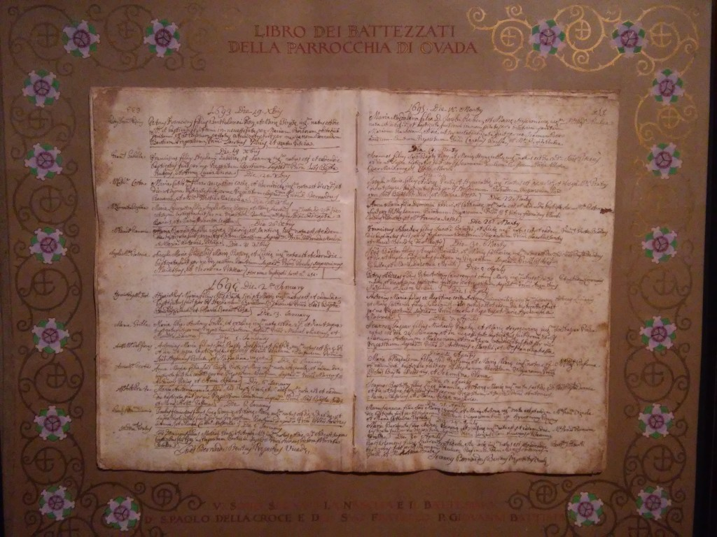 Documenti storici San Paolo